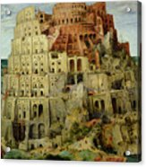Tower Of Babel Acrylic Print by Pieter the Elder Bruegel