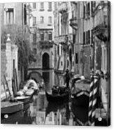 Traditional Venetian Gondolier Acrylic Print