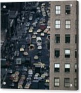 Traffic In New York City. View Acrylic Print by Everett