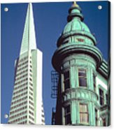 Dueling Architecture In San Francisco Acrylic Print