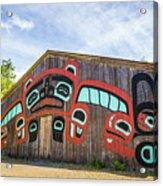 Tribal Totem Pole In Ketchikan Alaska Acrylic Print