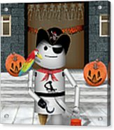 Trick Or Treat Time For Robo-x9 Acrylic Print