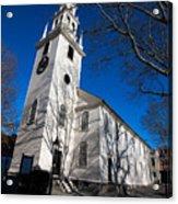 Trinity Church Newport Rhode Island Acrylic Print