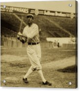 Tris Speaker With Boston Red Sox 1912 Acrylic Print