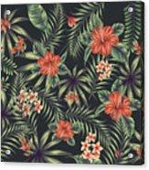 Tropical Leaf Pattern 5 Acrylic Print