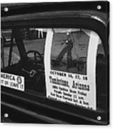 Truck With Right Wing Decal And Helldorado Days Poster Tombstone Arizona 1970 Acrylic Print