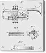 Trumpet Patent From 1919 Acrylic Print