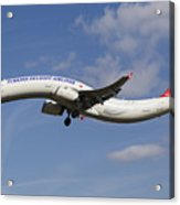 Turkish Delight Airlines Airbus A321 Acrylic Print
