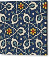 Turkish Textile Pattern Acrylic Print