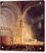 Turner Joseph Mallord William Transept Of Ewenny Prijory Glamorganshire Joseph Mallord William Turner Acrylic Print