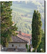 Tuscan Farmhouse At Villa Vignamaggio Acrylic Print
