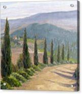 Tuscany Road Acrylic Print