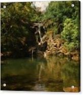 Twin Falls Pool Acrylic Print