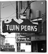 1 Twin Peaks Bar In San Francisco Acrylic Print by Wingsdomain Art and Photography