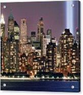 Twin Towers Of Light Acrylic Print