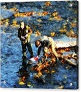 Two Men Fishing Acrylic Print