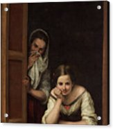 Two Women At A Window Acrylic Print