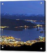 Ulsteinvik By Night Acrylic Print