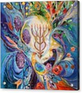 Under The Light Of Menorah Acrylic Print