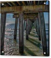 Under The Naples Pier Acrylic Print
