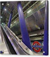 Underground Escalator Acrylic Print