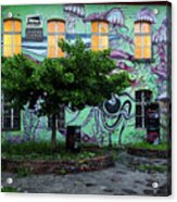 Underwater Graffiti On Studio At Metelkova City Autonomous Cultu Acrylic Print