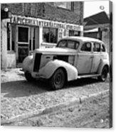 Upholstery Shop Dental Clinic 1930's Auto Us Mexico Border Naco Sonora Mexico 1980 Acrylic Print
