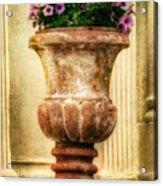 Urn With Purple Flowers Acrylic Print