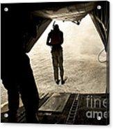U.s. Air Force Pararescuemen Jump Acrylic Print