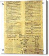 U.s Constitution Acrylic Print