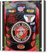 Us Marine Corps Viet Nam Veteran Peart Park Casa Grande Arizona 2005 Acrylic Print