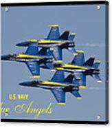 Us Navy Blue Angels Poster Acrylic Print