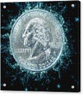 Us One Quarter Dollar Coin 25 Cents Acrylic Print