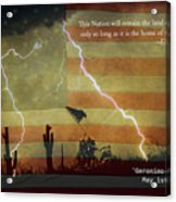 Usa Patriotic Operation Geronimo-e Kia Acrylic Print