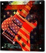 Usa Strat Guitar Music Acrylic Print