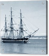 Uss Constitution Old Ironsides In Monterey Bay Oct. 1933 Acrylic Print
