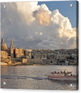 Valetta Skyline, Malta. Acrylic Print