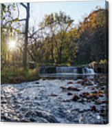 Valley Creek Waterfall - Valley Forge Pa Acrylic Print