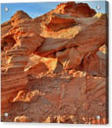 Valley Of Fire Arch At Sunrise Acrylic Print
