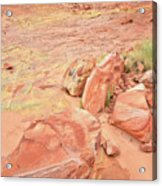 Valley Of Fire's Wash 3 Acrylic Print