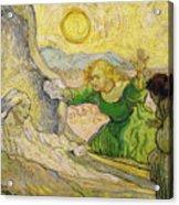 Van Gogh Raising Of Lazarus After Rembrandt Acrylic Print