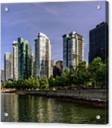 Waterfront Of Vancouver, Canada Acrylic Print