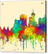 Vancouver B.c. Skyline Acrylic Print