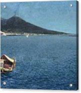 Veduta Del Vesuvio Acrylic Print