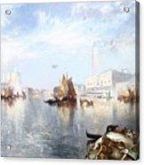 Venetian Grand Canal Acrylic Print by Thomas Moran