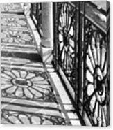 Venice Fence Shadows Acrylic Print