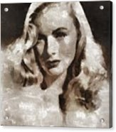 Veronica Lake Vintage Hollywood Actress Acrylic Print