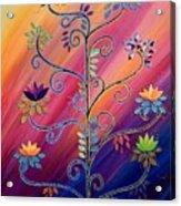 Vibrant Tree Of Life Acrylic Print