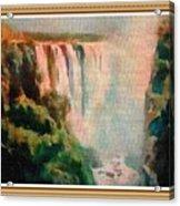 Victoria Waterfalls L B With Alt. Decorative Ornate Printed Frame. Acrylic Print
