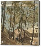 View From A Hill On A House On The Gulf Of Arcachon, August Allebe 1876 Acrylic Print